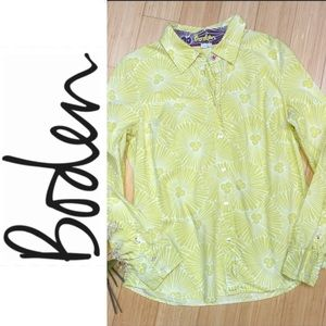 BODEN floral button-down sunshine shirt, US 10